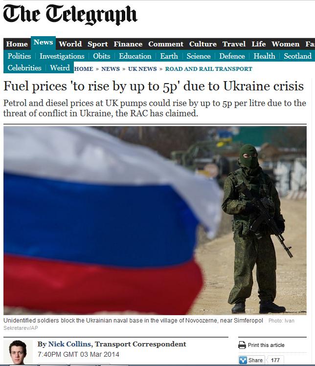 News Telegraph price Rise