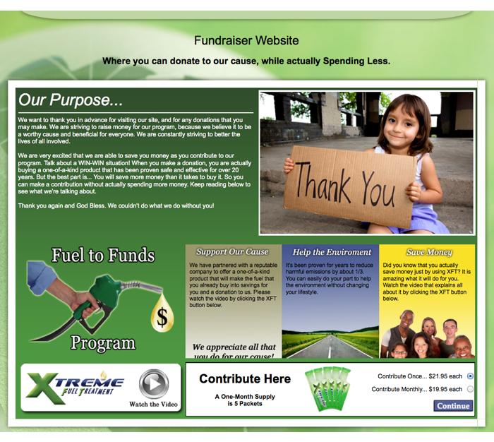 xft website fundraising