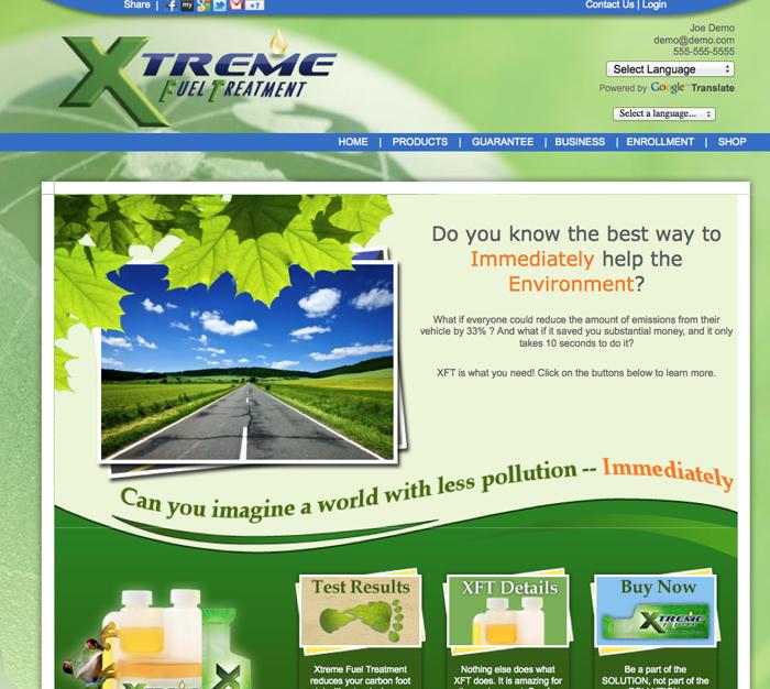 xft website go green